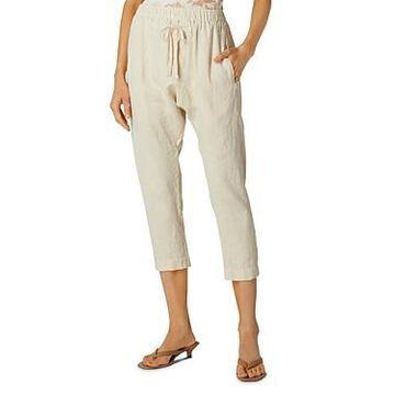 Enza Costa Cropped Drawstring Pants