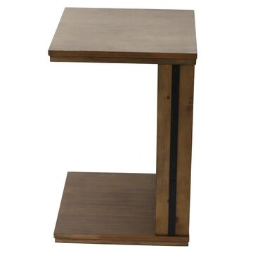 Decor Therapy Walnut Composite End Table in Brown | FR8852