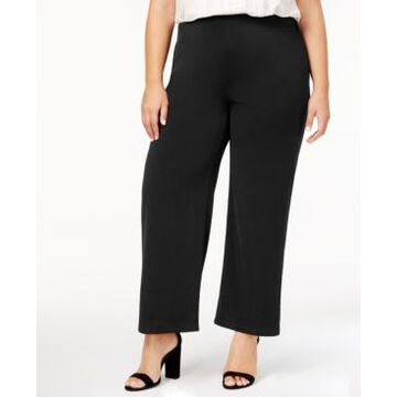 Ny Collection Petite Plus Size Pull-On Wide-Leg Pants, Created for Macy's