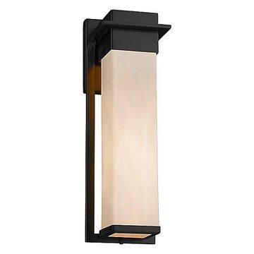 Justice Design Group Clouds Pacific Outdoor Wall Sconce - Color: Black - Size: Small - CLD-7541W-MBLK