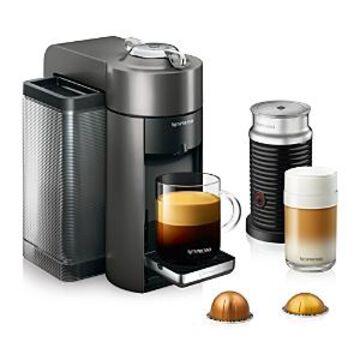 Nespresso Vertuo by De'Longhi with Aeroccino Milk Frother, Titan