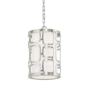 Kichler Sabine Brushed Nickel Modern/Contemporary Cylinder Medium (10-22-in) Pendant Light | 34710
