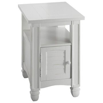 Stein World Nantucket Chair Side Table in Cottage White finish 679-041