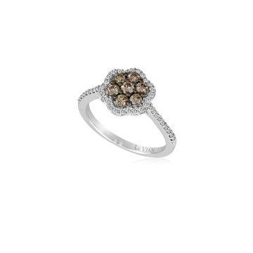 Le Vian Chocolatier 14K White Gold & Diamond Flower Ring