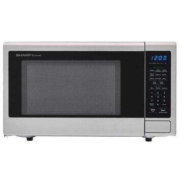 Carousel 1.1 Cu. Ft. 1000W Countertop Microwave Oven With Popcorn Preset