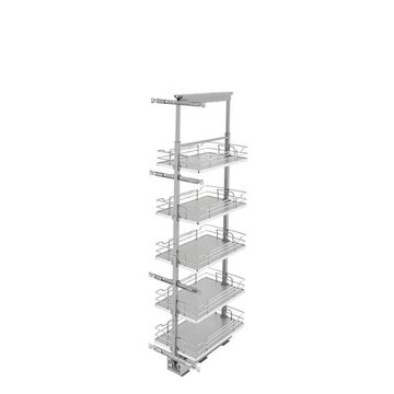 Rev-A-Shelf 13-in W x 50.75-in H 4-Tier Pull Out Metal Soft Close Baskets & Organizers