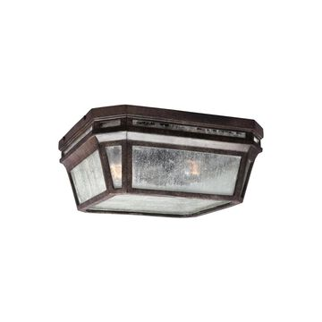 Feiss Londontowne 11.75-in W Weathered Chestnut Outdoor Flush Mount Light