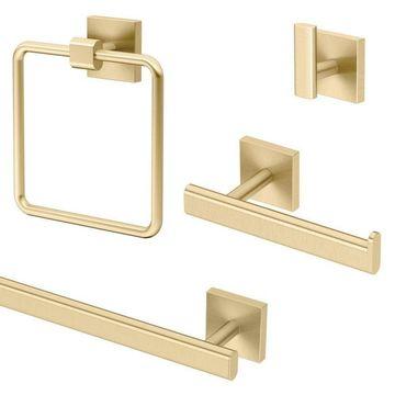 Gatco Gatco KA-ELE-4-BB Elevate 4-Piece Bathroom Accessory Kit, Brushed Brass