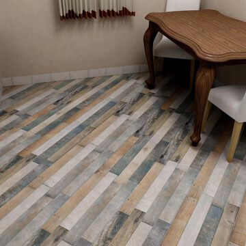 SomerTile 12.25x23.625-inch Trendy Rustico Porcelain Floor and Wall Tile (8 tiles/16.58 sqft.)