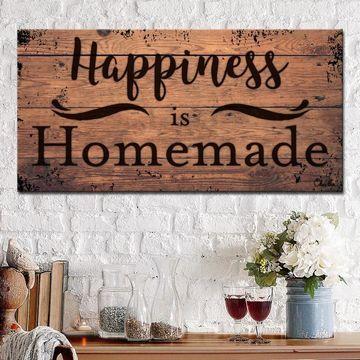 Ready2HangArt Farmhouse 'Homemade' Canvas Textual Wall Art