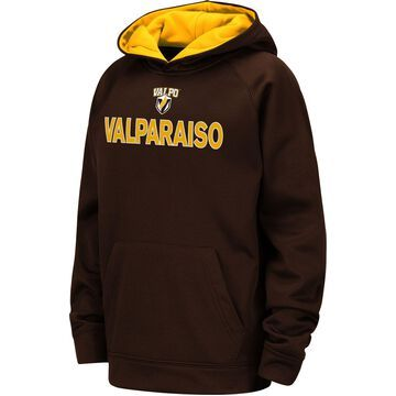 Colosseum Youth Valparaiso Crusaders Brown Pullover Hoodie