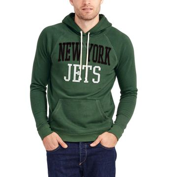 New York Jets Junk Food Half Time Pullover Hoodie - Green