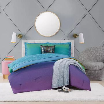 Material Girl Mermaid Ombre Complete Bedding Set, Multicolor, Full
