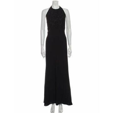 Halterneck Long Dress Black
