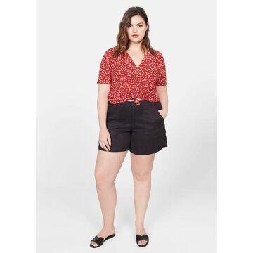 Violeta BY MANGO - Floral print shirt red - 14 - Plus sizes