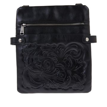 As Is Patricia Nash Prizzi Leather Crossbody