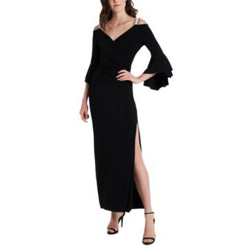 Msk Embellished Cold-Shoulder Gown
