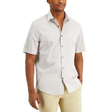Alfani Men's Short-Sleeve Eco-Fresh Woven Shirt, Created for Macy's