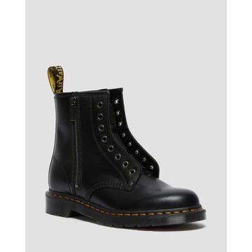 Dr. Martens, 1460 Elastic Smooth Leather Lace Up Boots in Black, Size M 6/W 7