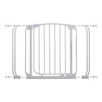Dreambaby Chelsea Auto Close Stay Open Security Gate Value Pack in White