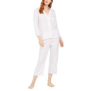 Miss Elaine Floral-Print Knit Pajamas Set