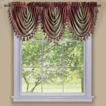 Achim ACHIM Ombre Waterfall Valance Curtain