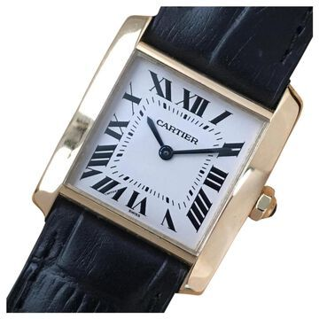 Cartier Tank Francaise White Yellow gold Watches