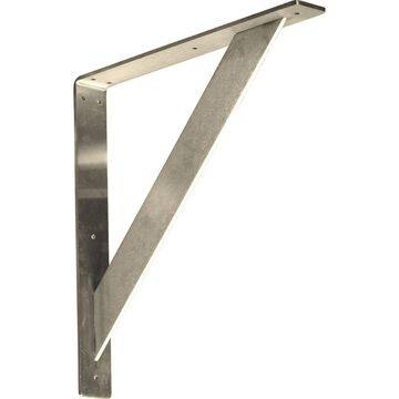 Ekena Millwork Traditional 16-in x 2-in x 16-in Stainless Steel Countertop Support Bracket