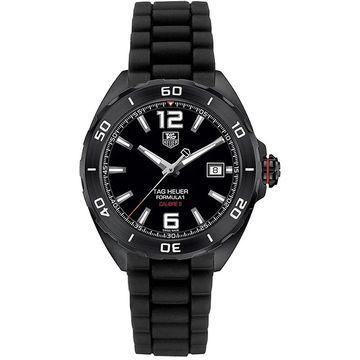 Tag Heuer Men's WAZ2115.BT0705 'Formula 1' Automatic Black Rubber Watch