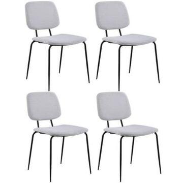 Chintaly Bertha Diamond Stitch-Back Side Chair, Set of 4