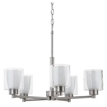 Miseno MLIT158953 Double Glass 5-Light Chandelier