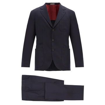 Brunello Cucinelli - Single-breasted Wool-twill Suit - Mens - Blue