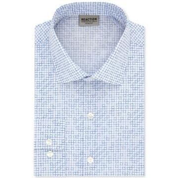 Kenneth Cole Reaction Men's Slim-Fit All Day Flex Performance Stretch Geo-Print Dress Shirt