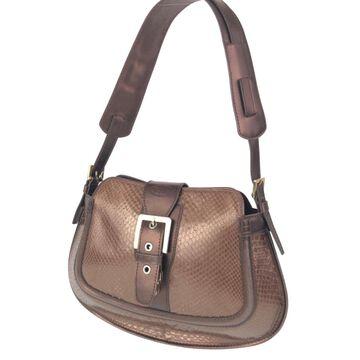 Tod's Brown Python Handbags