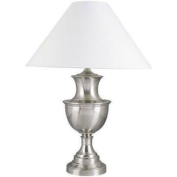 ORE International Metal Table Lamp, Satin Nickel