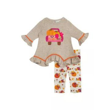 Rare Editions Girls' Girls 4-6X Hacci Knit Top To Floral Legging Set - -