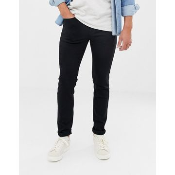 Selected Homme skinny fit stretch jeans in black wash