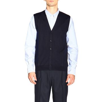 Fay Gilet With V-neck In Basic Wool