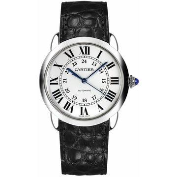 Cartier Unisex WSRN0013 'Ronde Solo' Black Leather Watch