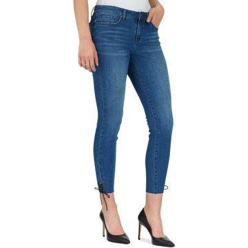 William Rast Womens Denim Frayed Hem Ankle Jeans