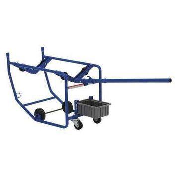 VESTIL RDC-100 Revolving Drum Cart,Single,600 lb.