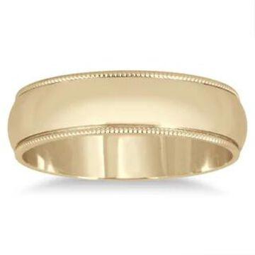 Marquee Jewels 14k Yellow Gold 5mm Milgrain Edge Comfort-fit Wedding Band (8)