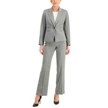 Le Suit Pinstriped Pantsuit