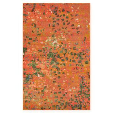 Unique Loom Ivy Barcelona 5' x 8' Powerloomed Area Rug in Orange
