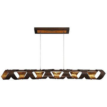 Eurofase Banderia LED Linear Chandelier Light - Color: Bronze - 30083-011