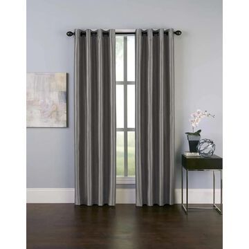 CHF 144-in Pewter Polyester Room Darkening Thermal Lined Grommet Single Curtain Panel in Gray | 1Q806104PT