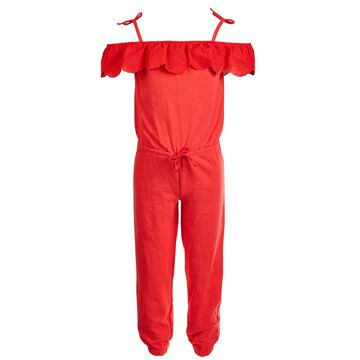 Little Girls Off-The-Shoulder Jumpsuit, Created for Macy's