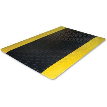 Genuine Joe, Safe Step Anti-Fatigue Floor Mats, 1 / Each, Black,Yellow