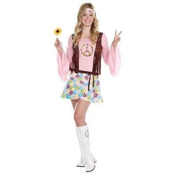 Peace Baby! (Light-Up) Teen Halloween Costume - Size Medium (7-9)