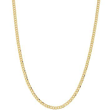 Fremada 10k Yellow Gold 2.7-mm High Polish Curb Link Chain (16 - 30 inches)